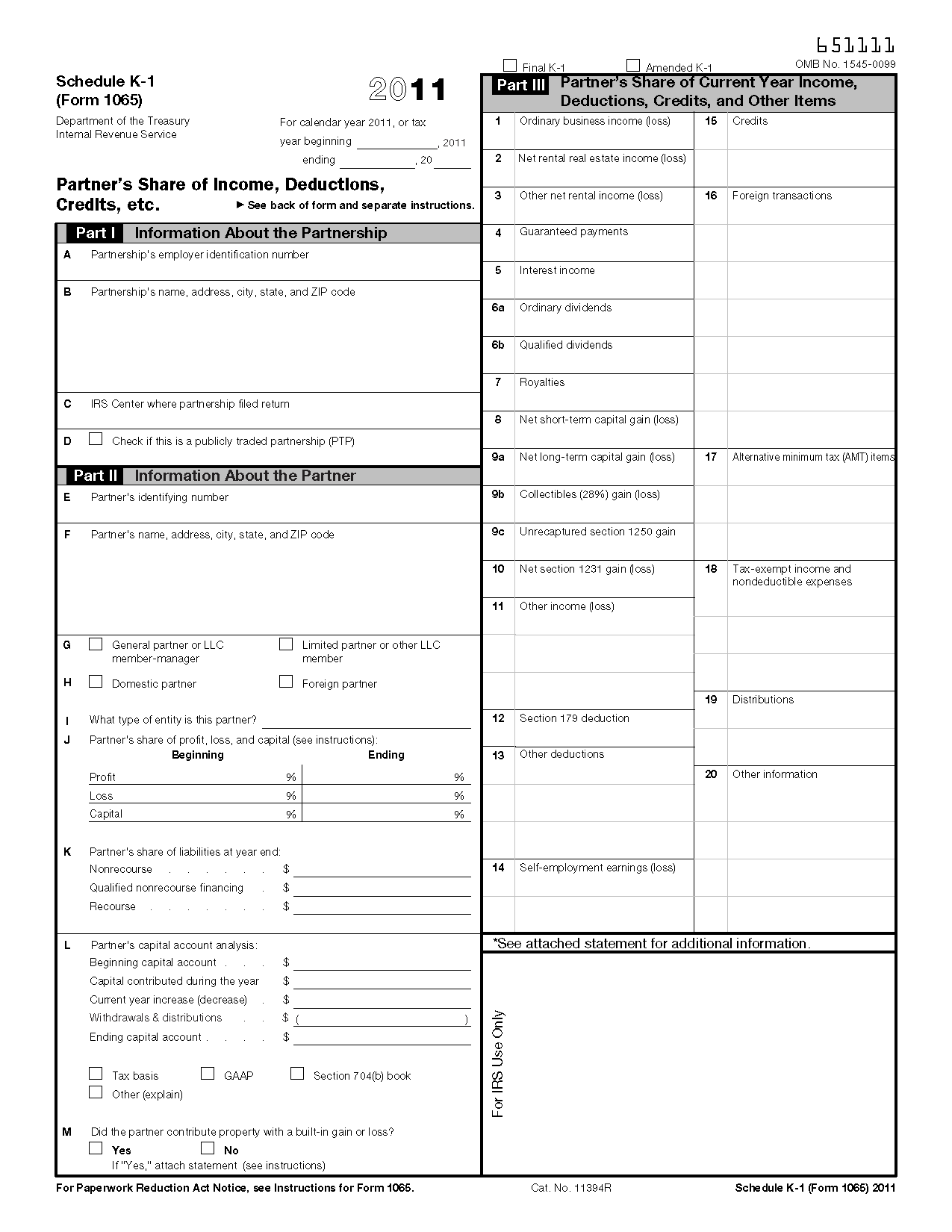 Schedule k 1 form 1065 instructions 2013 form: resume examples.