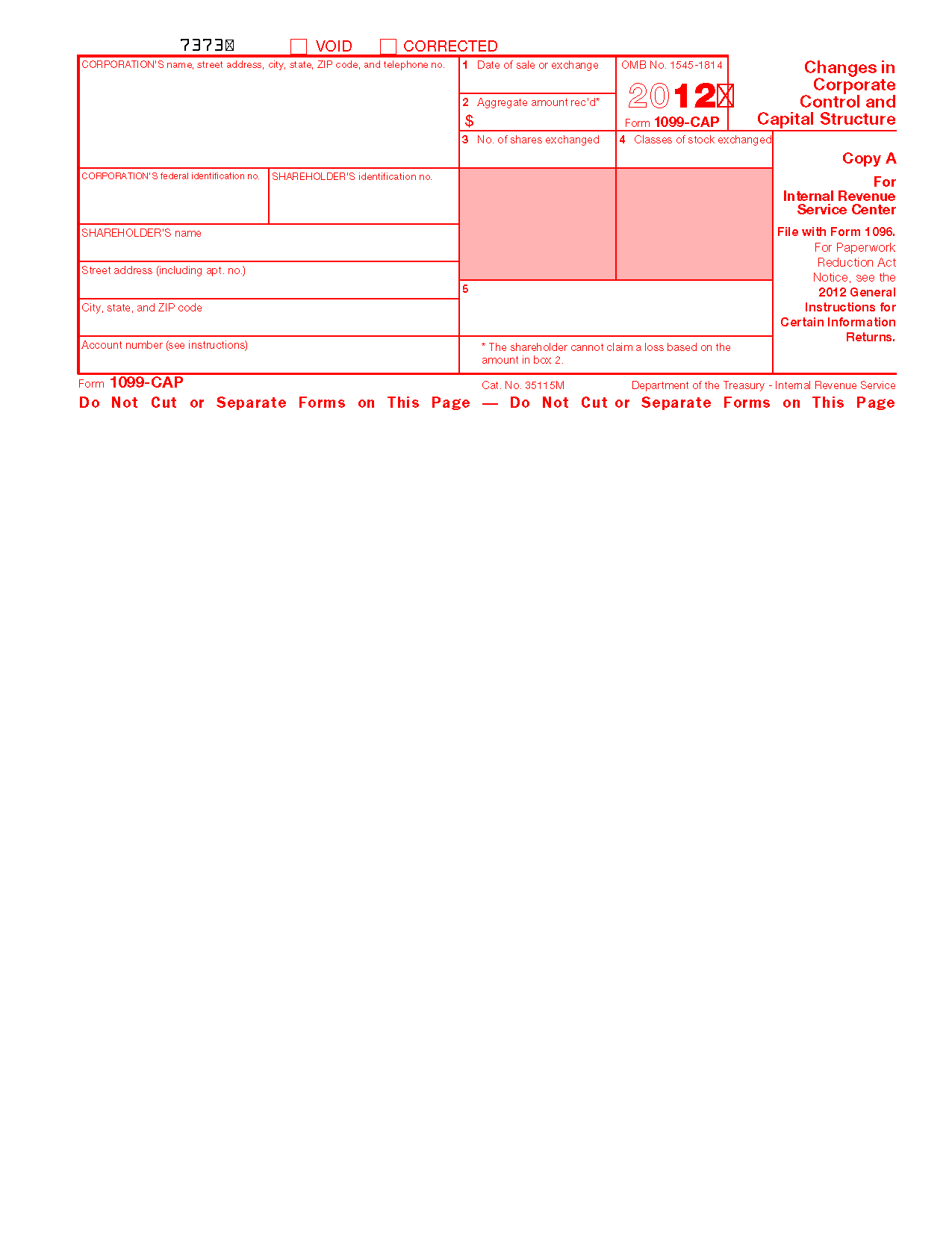 Form 1099-CAP Changes in Corporate Control and Capital Structure ...