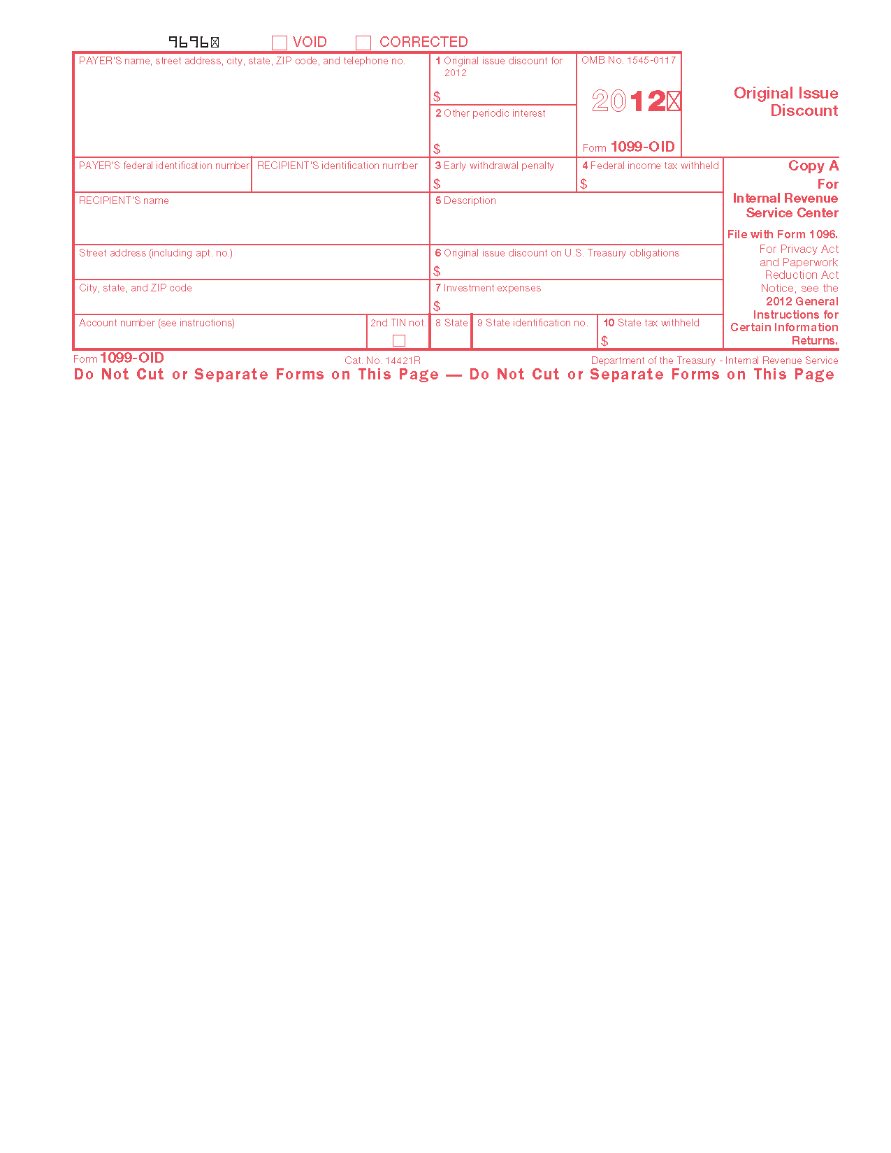 Form 1099 oid original issue discount info copy only view all 2011 irs tax forms falaconquin