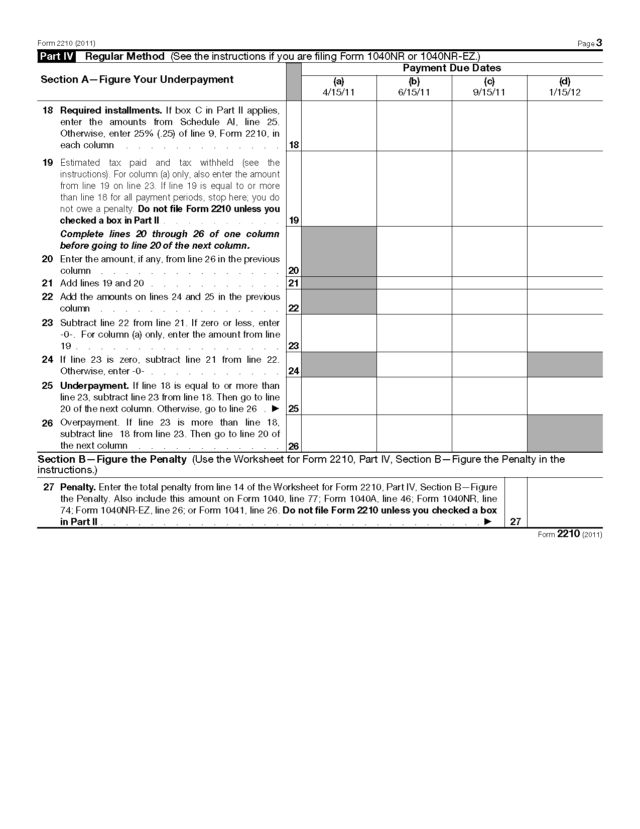 Form 2210 underpayment of estimated tax by individuals estates and view all 2011 irs tax forms falaconquin