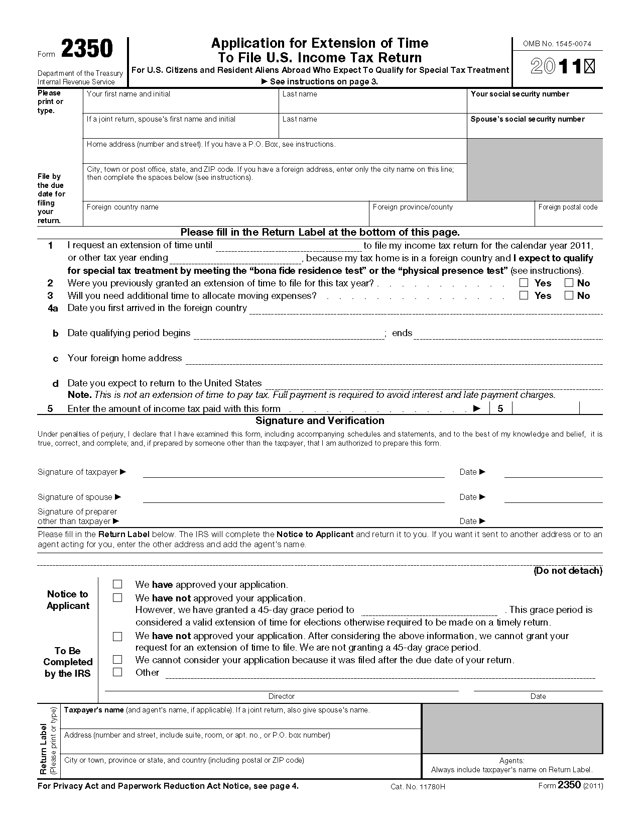 what is the difference between form 4868 and form 2350 - Mersn ...