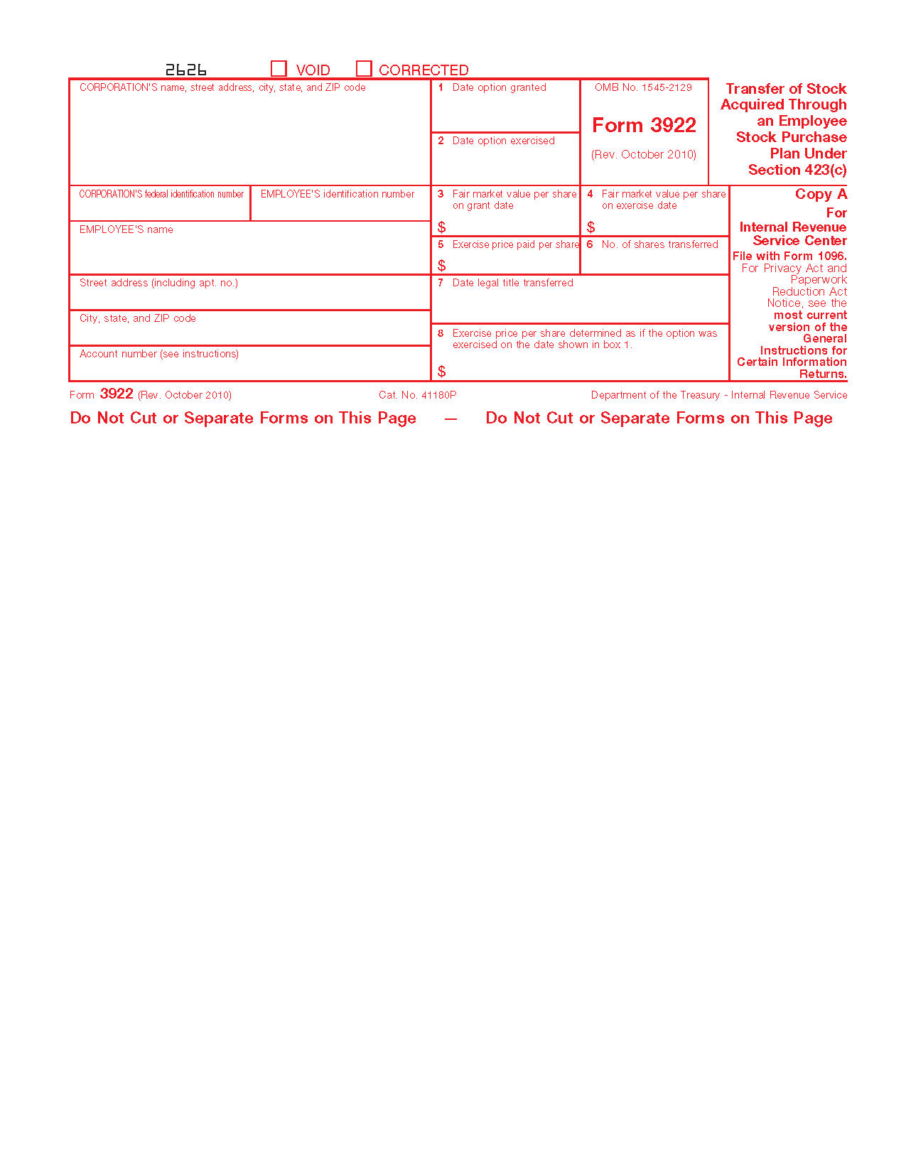 Irs Form 3922 Instructions Images Free Form Design Examples