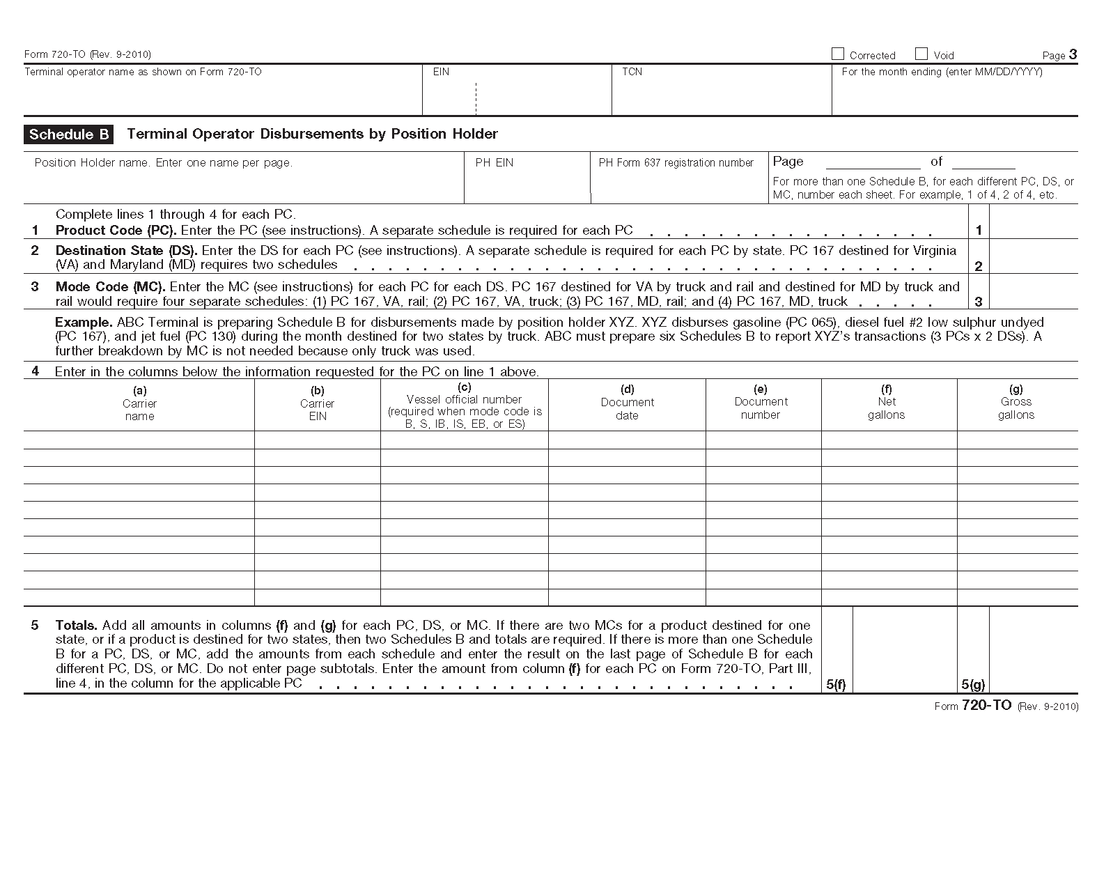 Form 720 to terminal operator report view all 2011 irs tax forms falaconquin