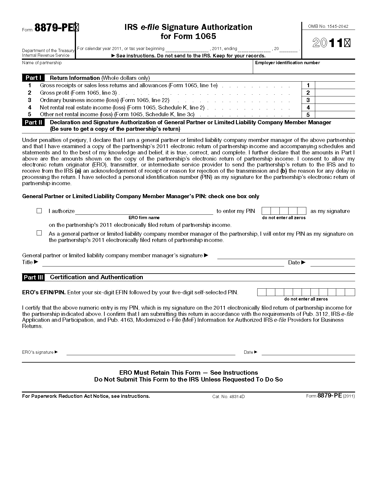 irs form 8879 pe - Mersn.proforum.co